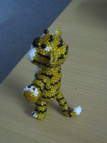 Как из бисера сделать тигра