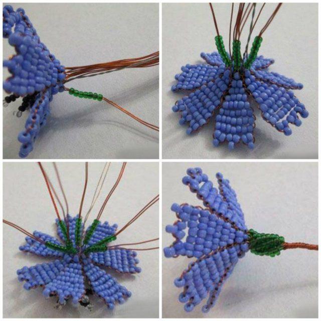 Мастер-класс плетения василька бисером