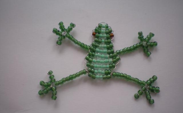 Техника плетения лягушки