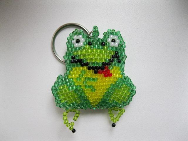 Брелок зеленая жаба